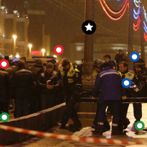 Behind the crime: Annotated photo shows Nemtsov crime scene