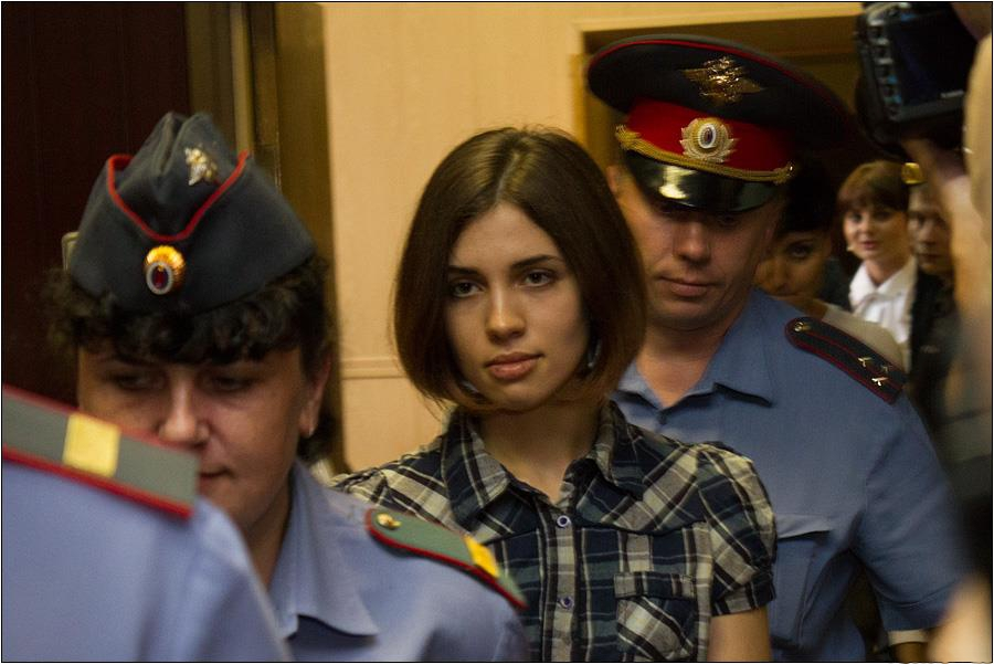 Nadezhda Tolokonnikova Of The Pussy Riot Rock Group At The Moscow Tagansky District Court In June 2012. Photo By Denis Bochkarev/Wikimedia Commons