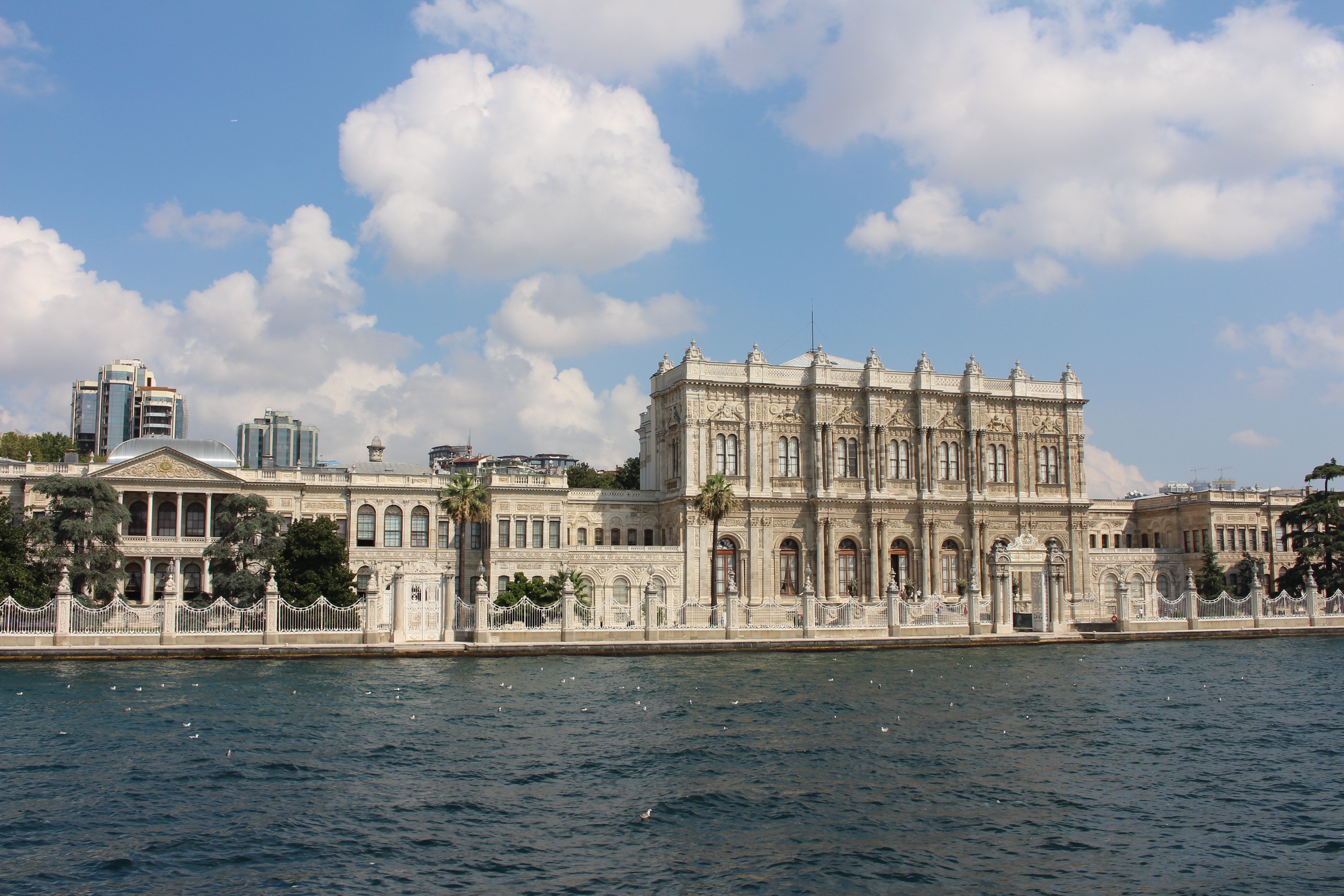 Istanbul's Dolmabahce Palace Looks Out Over The Bosphorus Strait, Which Separates Europe And Asia. Photo By Jack Hennessy.