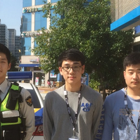 Yoo (second From Left) And Student Reporters At The Songdo, Incheon Police Station On Oct. 8. Photo By Daniel Kim