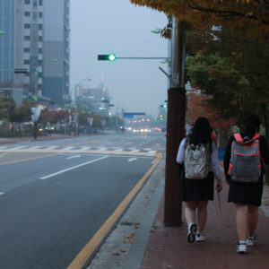 "Korean students battle dreaded ""yellow dust"" from China"