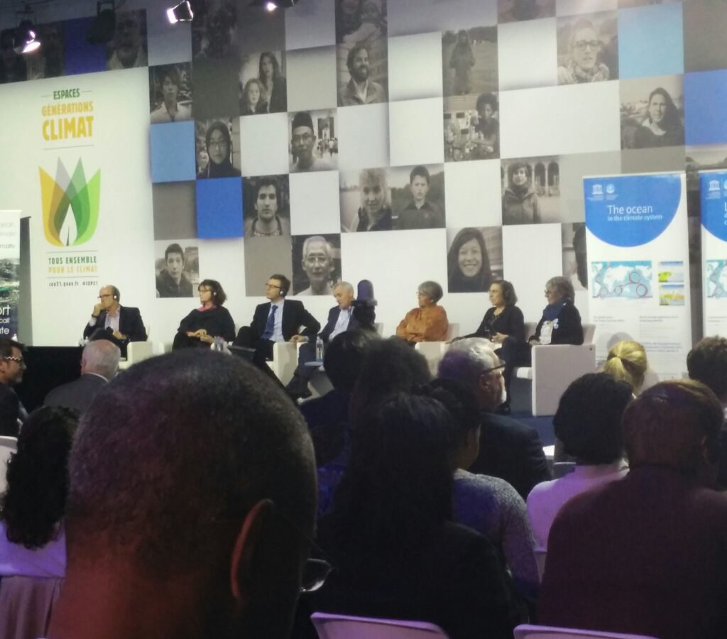 Climate Change Scientists And Experts Discuss The Impact Of Climate Change On The World's Oceans At COP21 In Paris. Photo By Adam Handoko.