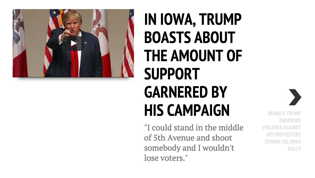 Rally by rally: A timeline of Trump talk