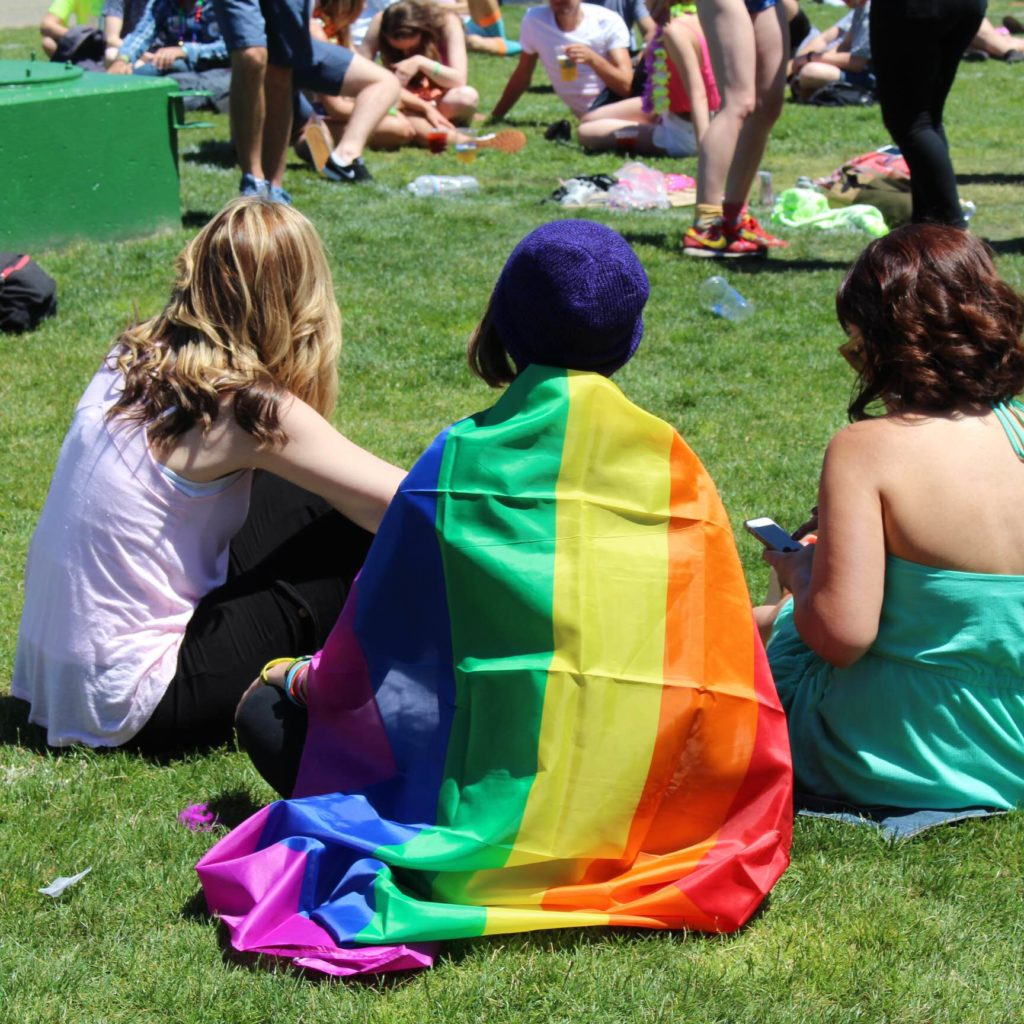 Attendees Wore Colorful Costumes And Gay Pride Flags.