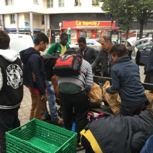 Day after encampment sweep, refugees return to central Paris