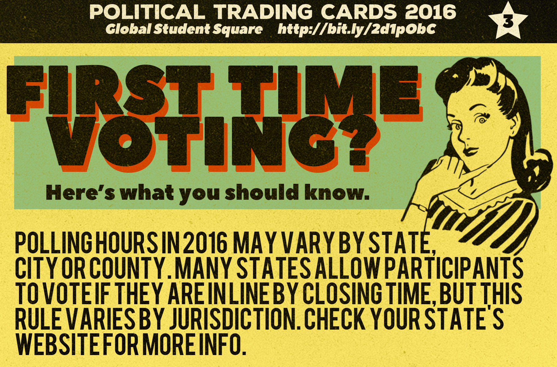Political Trading Cards: Voting Virgin