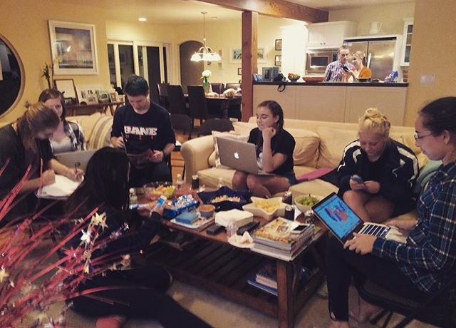 Student Journalists From San Dieguito Academy In Encinitas, California, Gathered During Election Night On Nov. 8 To Publish Live Reports. Credit: Kate Sequeira.