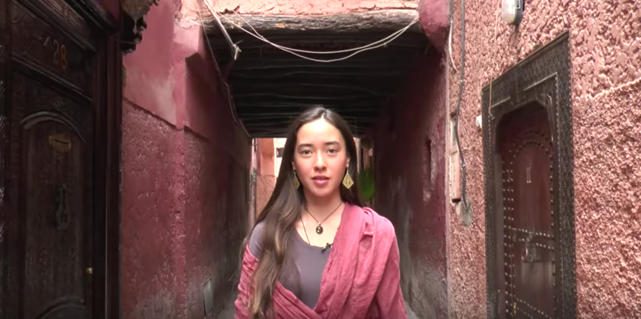 "Screenshot From Green School Bali Student Video Seeking Access To ""Green Zone"" Public Space At COP22 Climate Change Conference In Morocco."