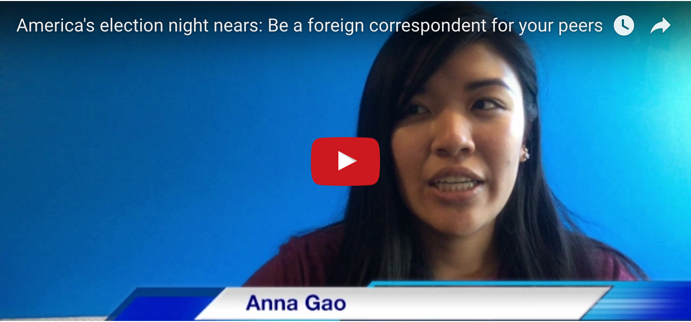 America's Election Night Nears: Be A Foreign Correspondent For Your Peers
