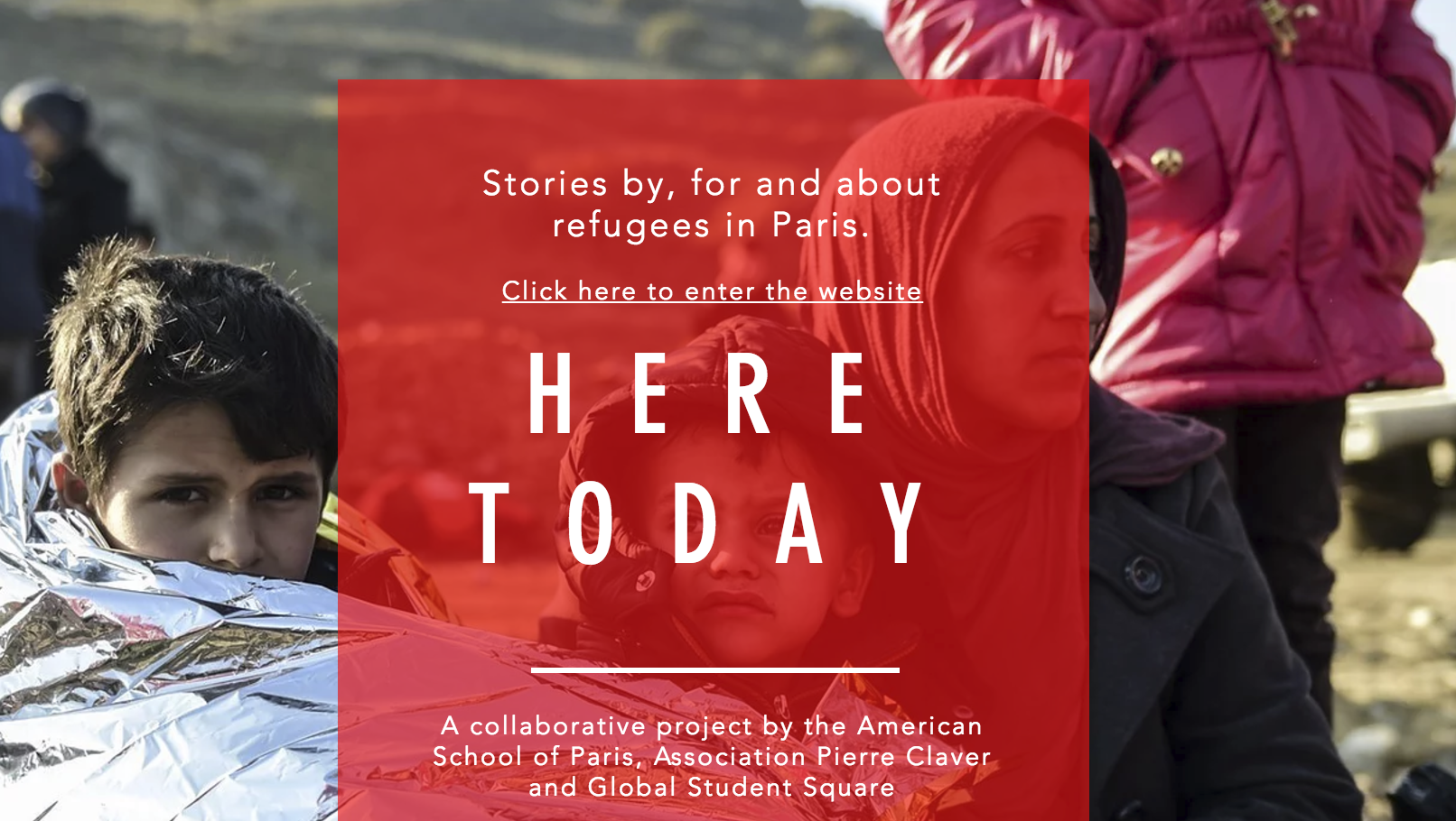Student journalists reporting on refugees in Paris: 'Here Today'