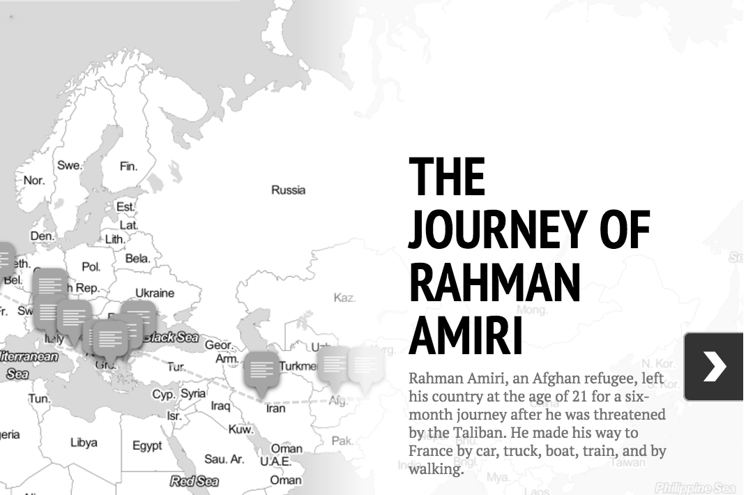 STORYMAP: The journey of Rahman Amiri