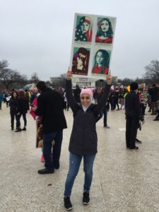 GSS columnist Hannah Shraim at the Women's March on Washington, Jan. 21, 2017. Unattributed photo.