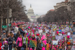 A sea of pink and pink pussyhats at the Women's March on Washington, D.C., on Jan. 21, 2017. Photo by Mobilus In Mobili at Wikimedia Commons/CC 2.0.