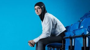 Nike's ProHijab was developed with athletes including skater Zahra Lari. Photo by Nike.