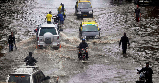 Photo Of Monsoon Floods In Mumbai On Aug. 29, 2017, Posted To Wikimedia Commons By News Measurements Network Live/Creative Commons Universal Public Domain.