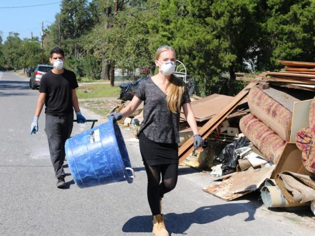 VIDEO: High School Students Help Houston Recover From Hurricane Harvey